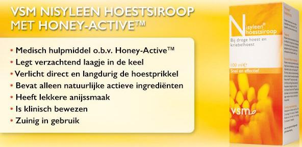 VSM Nisyleen Hoestsiroop Honey-Active usp's