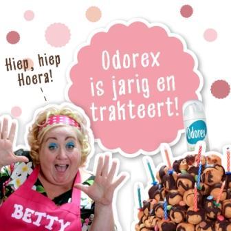 Odorex is jarig en trakteert
