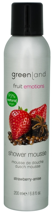 Greenland fruit emotions shower mousse aardbei anijs
